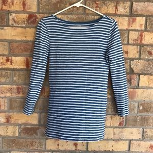 J Crew Long Sleeve Striped Painters Tee Size S